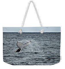 Weekender Tote Bag featuring the photograph Whale Of A Time by Miroslava Jurcik