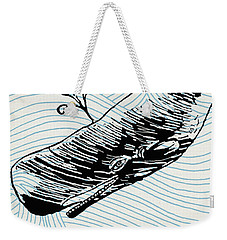 Whale On Wave Paper Weekender Tote Bag