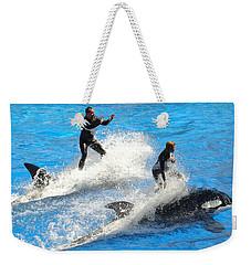 Whale Racing Weekender Tote Bag
