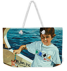 What A Catch Weekender Tote Bag by Barbara Jewell