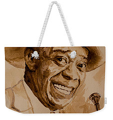 Weekender Tote Bag featuring the painting What A Wonderful World by Laur Iduc