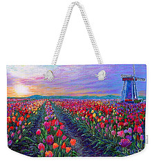 Tulip Fields, What Dreams May Come Weekender Tote Bag by Jane Small