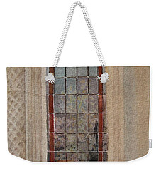 What Is Behind The Window Pane Weekender Tote Bag