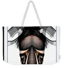 Weekender Tote Bag featuring the painting What You See Is What You Get? by Rafael Salazar