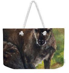 What'ch Ya Doin' Weekender Tote Bag by Lori Brackett