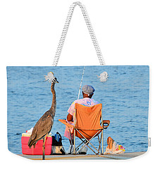Weekender Tote Bag featuring the photograph What's For Lunch by Charlotte Schafer