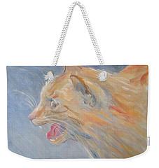 When Cat Talks Weekender Tote Bag