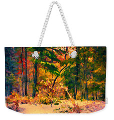 When Fall Becomes Winter Weekender Tote Bag
