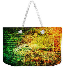 Weekender Tote Bag featuring the mixed media When Past And Present Intersect #1 by Sandy MacGowan