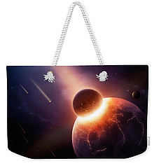 When Planets Collide Weekender Tote Bag