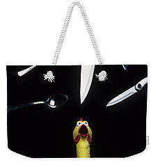When Rubber Chickens Juggle Weekender Tote Bag by Bob Christopher