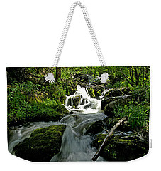 When Snow Melts Weekender Tote Bag by Jeremy Rhoades
