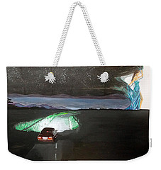 When The Night Start To Walk Listen With Music Of The Description Box Weekender Tote Bag by Lazaro Hurtado