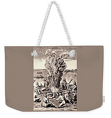 When They Returned From The War They Make Merry About The Fire Weekender Tote Bag by Peter Gumaer Ogden