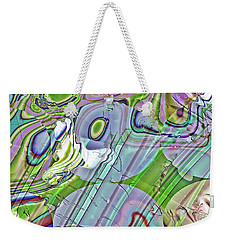Weekender Tote Bag featuring the digital art When Worlds Collide by Richard Thomas
