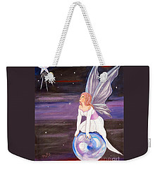 Weekender Tote Bag featuring the painting When You Dream by Phyllis Kaltenbach