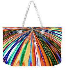 Where It All Began Abstract Weekender Tote Bag by Alec Drake