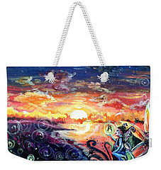 Weekender Tote Bag featuring the painting Where The Fairies Play by Shana Rowe Jackson