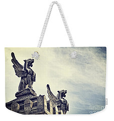 Where The Lions Roar Weekender Tote Bag by Ivy Ho
