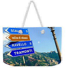 Weekender Tote Bag featuring the photograph Where To Go Next by Mike Ste Marie