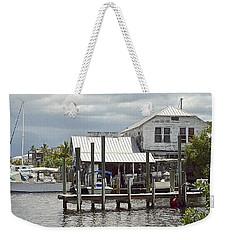 Whiddens Sea Food Market Weekender Tote Bag by Carol  Bradley
