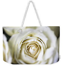 Whie Rose Softly Weekender Tote Bag