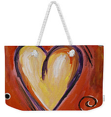 Whimsical  Abstract Art - With All My Heart Weekender Tote Bag