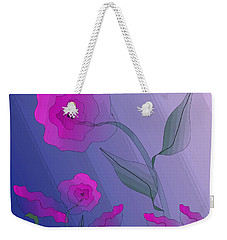 Weekender Tote Bag featuring the digital art Whimsical Floral by Mary Bedy