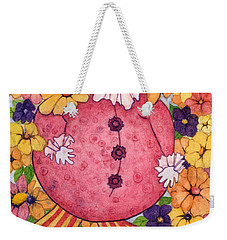 Weekender Tote Bag featuring the painting Whimsy On Parade  by Barbara Jewell