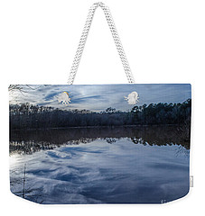 Whipped Cream Reflection Weekender Tote Bag by Donna Brown