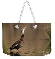 Whistling Duck Whistling Weekender Tote Bag by Bryan Keil