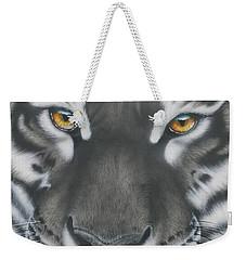 White And Black Tiger Weekender Tote Bag