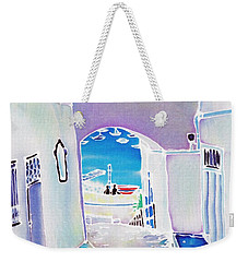 White And Blue 1 Weekender Tote Bag