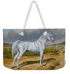 White Arabian Stallion Weekender Tote Bag