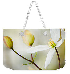 White Awake Weekender Tote Bag