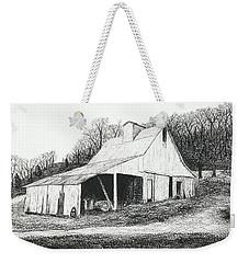 White Barn On Bluff Road Weekender Tote Bag