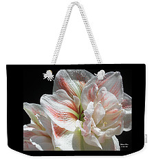 White Beauty  Weekender Tote Bag