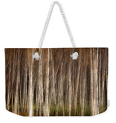 White Birch Abstract Weekender Tote Bag by John Vose