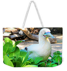 Weekender Tote Bag featuring the photograph White Bird by Kristine Merc