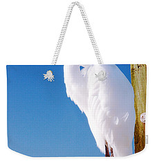 Great White Heron Weekender Tote Bag by Vizual Studio