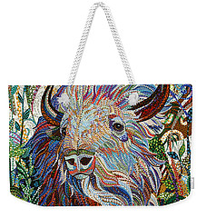 White Buffalo Weekender Tote Bag