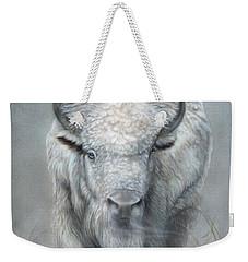 White Buffalo Weekender Tote Bag