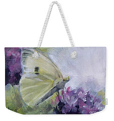 White Butterfly 2 Weekender Tote Bag