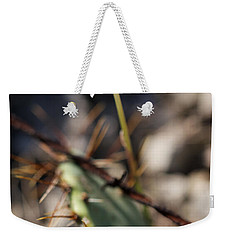 Weekender Tote Bag featuring the photograph White Cactus Flower by Erika Weber