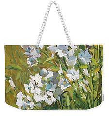 White Campanulas Weekender Tote Bag