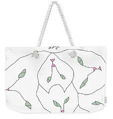 Weekender Tote Bag featuring the painting White Cats by Anita Dale Livaditis