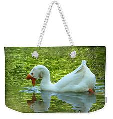 White Chinese Goose Curtsy  Weekender Tote Bag
