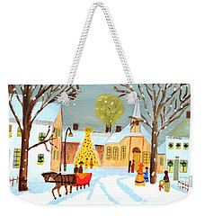 White Christmas Weekender Tote Bag