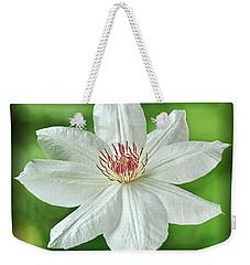 White Clematis Weekender Tote Bag