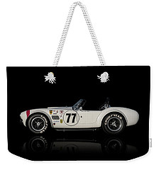 Weekender Tote Bag featuring the digital art White Cobra by Douglas Pittman